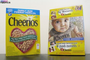 Cheerios photo mosaic box