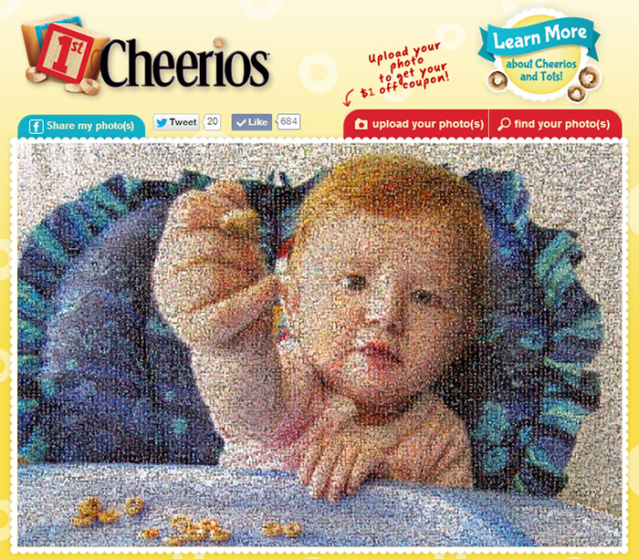 cheerios photo mosaic
