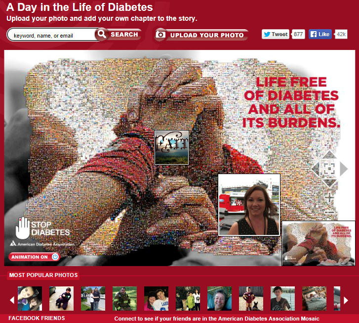 American Diabetes Association photo mosaic