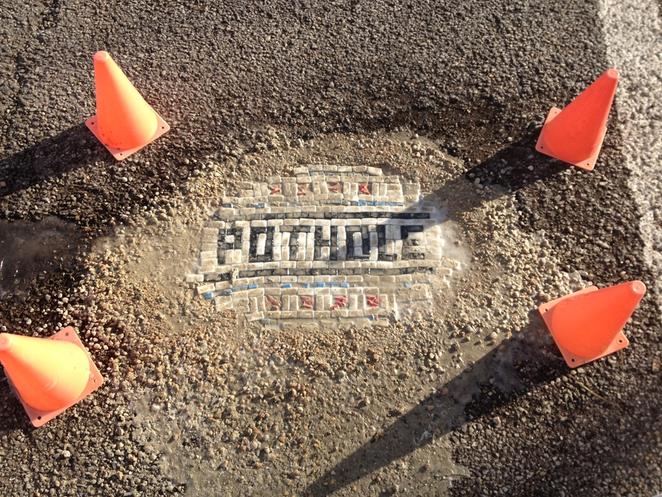 Jim Bachor - Chicago pothole mosaics