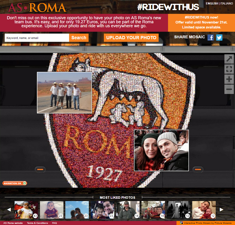 AS ROMA Online Interactive Photo Mosaic