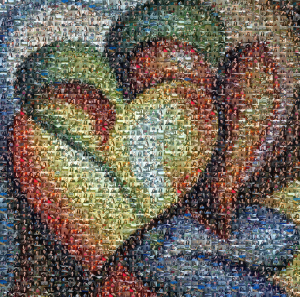 Picture Mosaics|Photo Mosaic Gallery - Hearts Painting