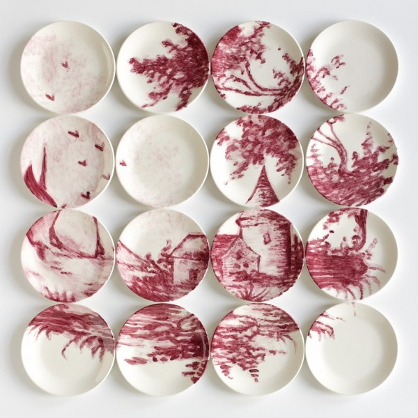 Molly Hatch Ceramic Saucer Mosaics