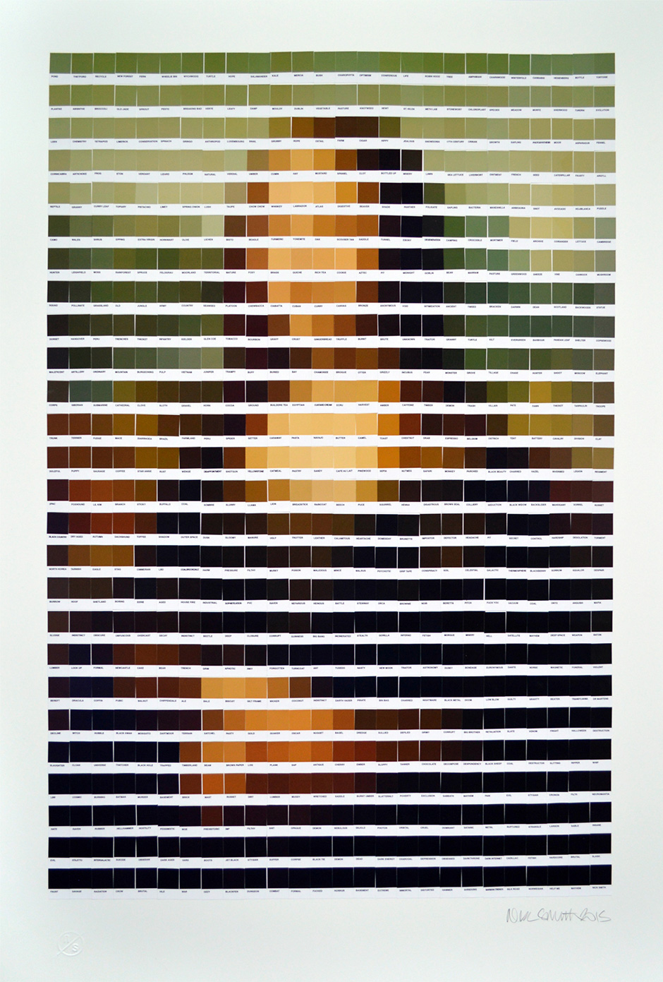 Nick Smith Pantone Swatch Mosaics