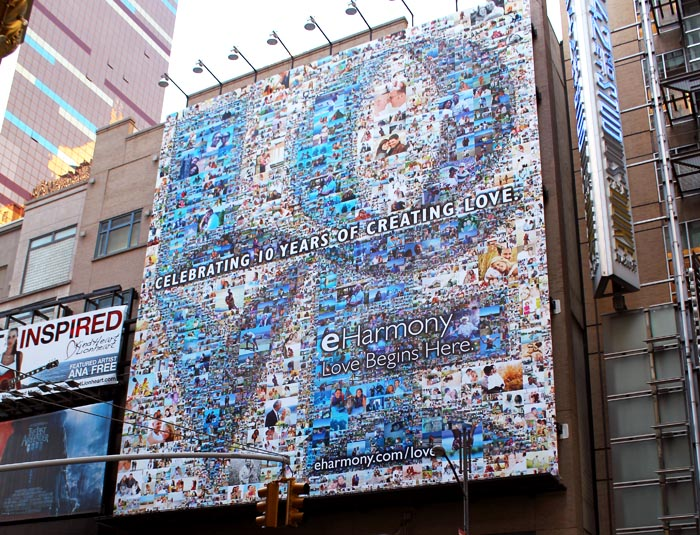 eHarmony 10th Anniversary Photo Mosaic