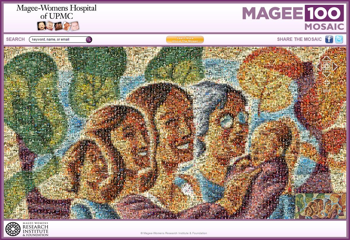 Magee-Womens Hospital Online Photo Mosaic