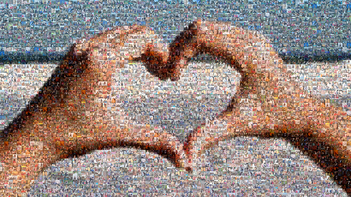 Picture Mosaics - Hand Heart Photo Mosaic