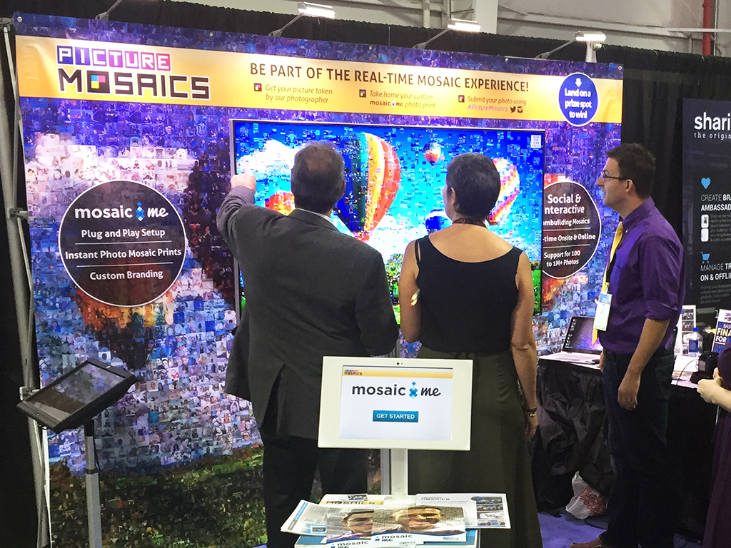 BizBash Live: The Expo 2015 in New York City - Real-time Interactive Photo Mosaic