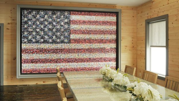 Picture Mosaics - A one-of-a-kind Veteran's Flag Photo Mosaic Mural
