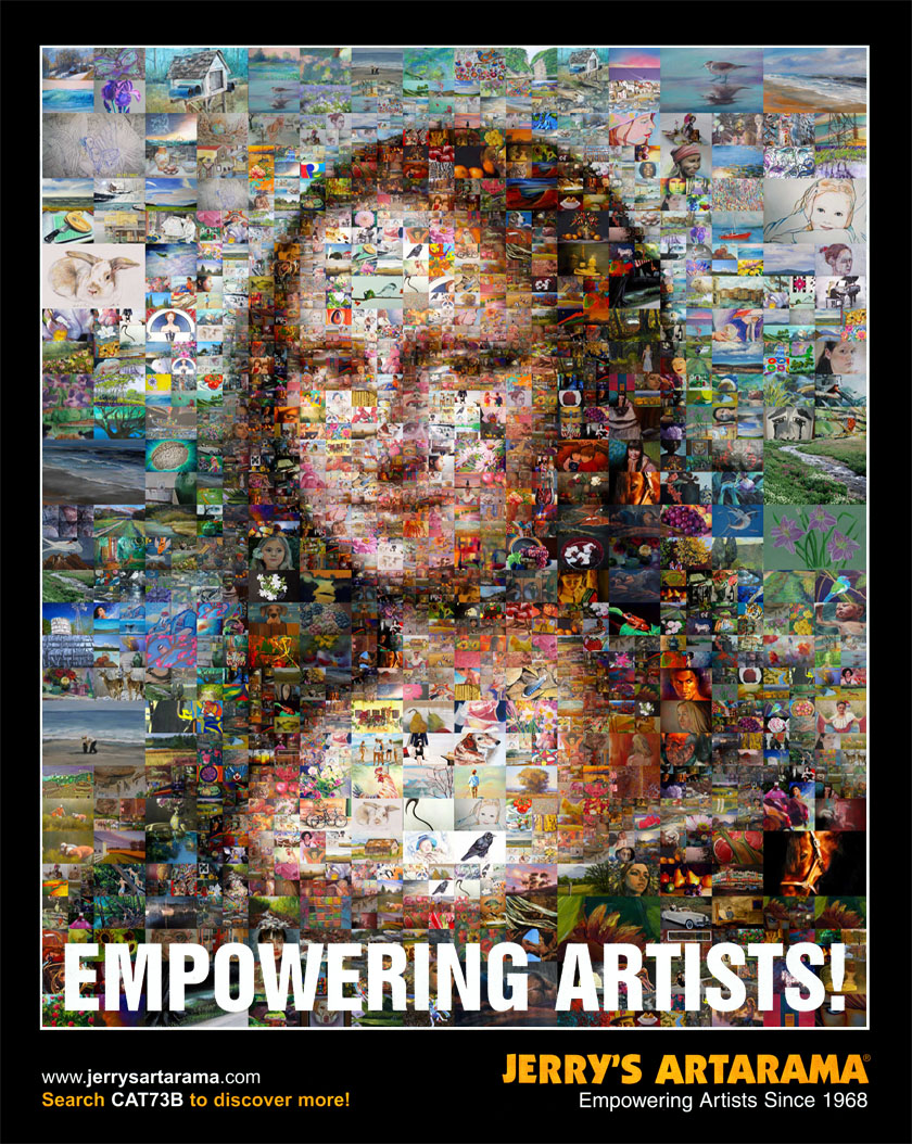 The 2012 Mona Lisa Mosaic Jerry's Artarama Catalog Cover