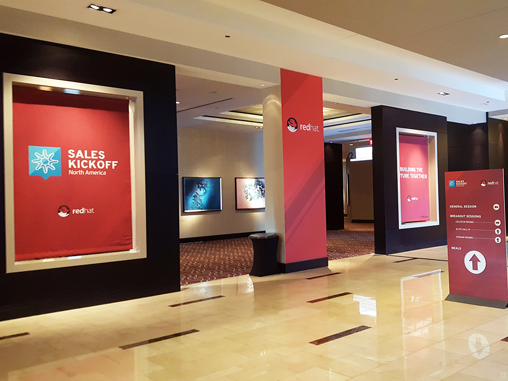 Real-time Interactive Photo Mosaic Event: Red Hat Sales Kickoff