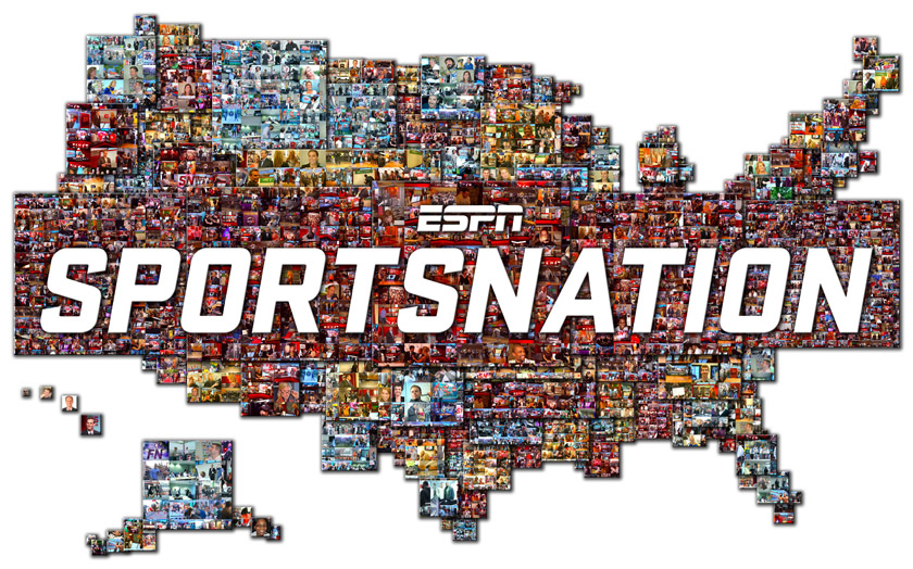 The ESPN Sportsnation Photo Mosaic Mural