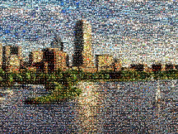 Boston Landscape Mosaic
