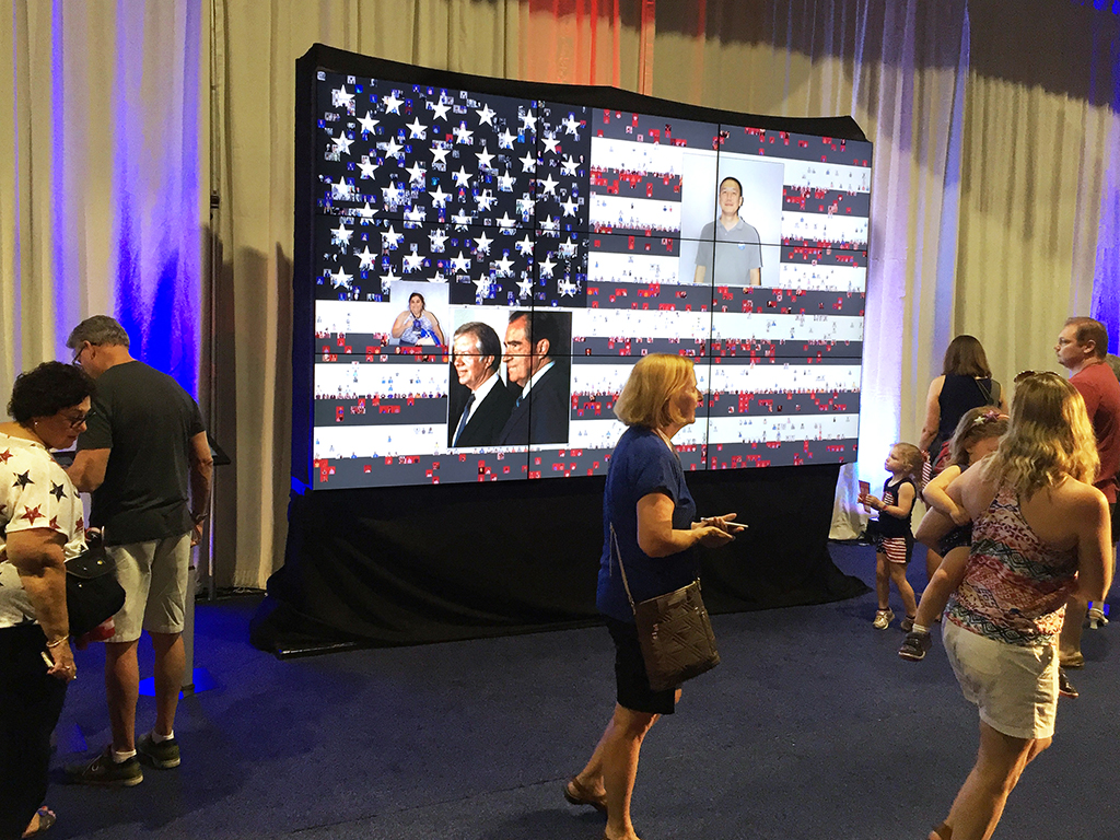 Real-time Photo Mosaic Event: PoliticalFest 2016