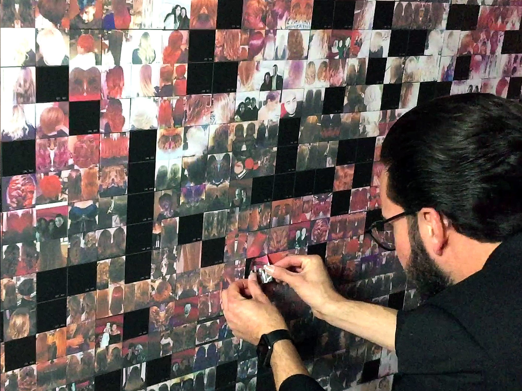 Photo-by-Photo Mosaic Wall Event: SalonCentric Matrix After Party