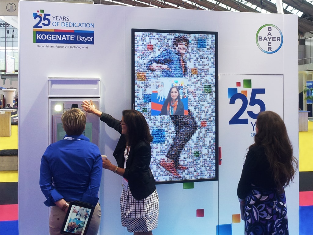 Real-time Interactive Photo Mosaic Event Bayer XXIV Congress of the ISTH, Amsterdam