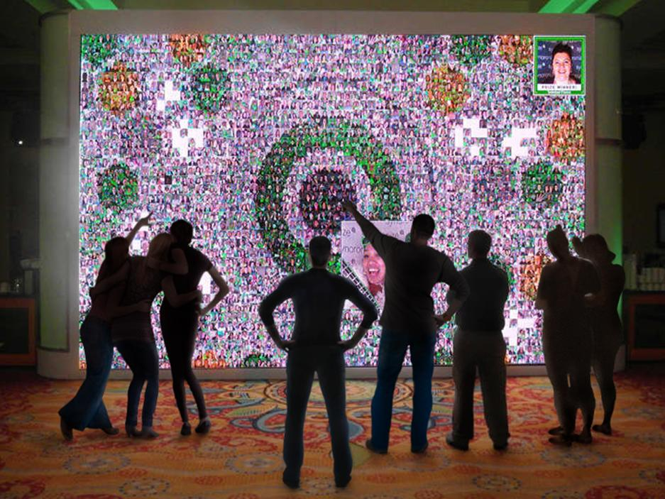 Real-time Interactive Photo Mosaic Event Qliktech Employee Summit 2013
