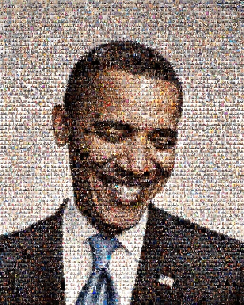 President Obama Standing O Mosaic