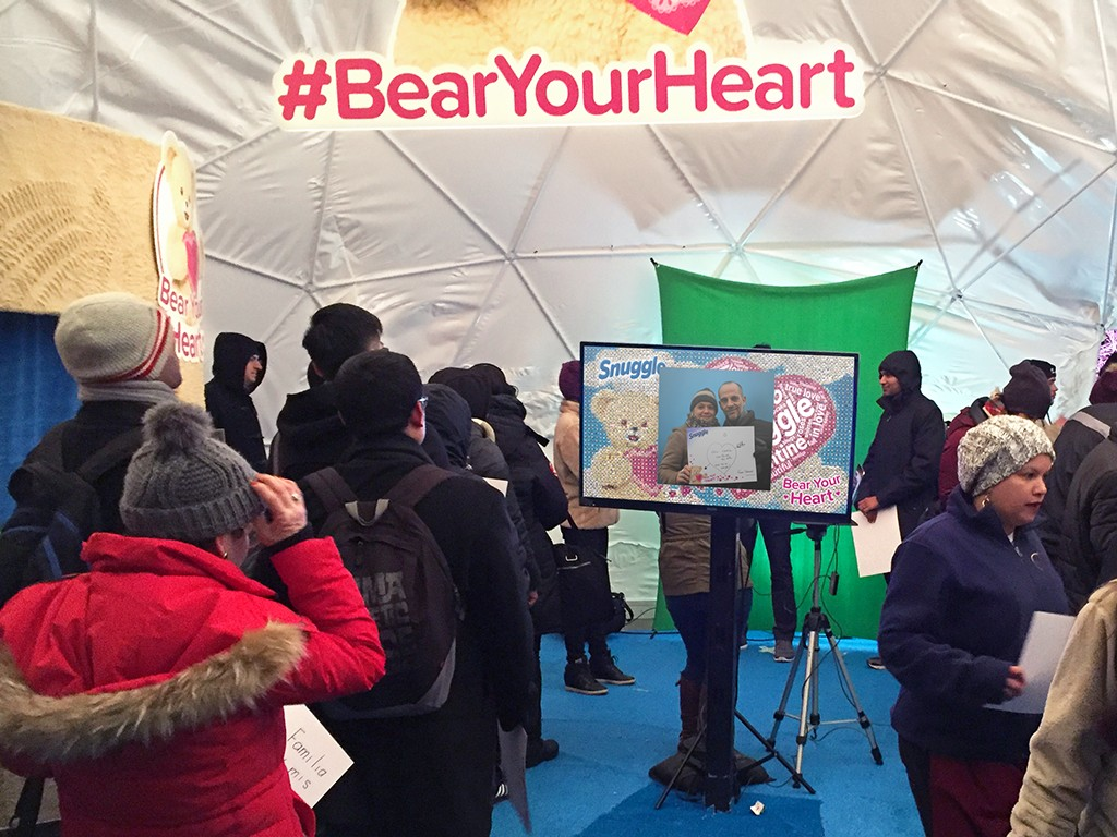 Snuggle Bear Your Heart Event in New York City, NY - Real-time Interactive Photo Mosaic