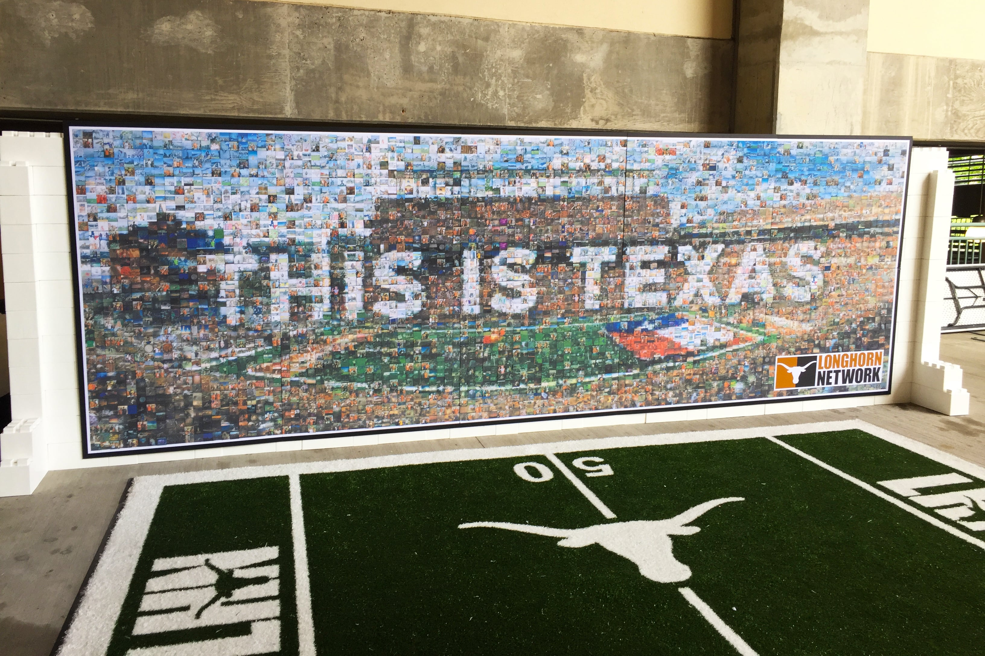 Texas Longhorns Orange-White Spring Game Live Print Mosaic