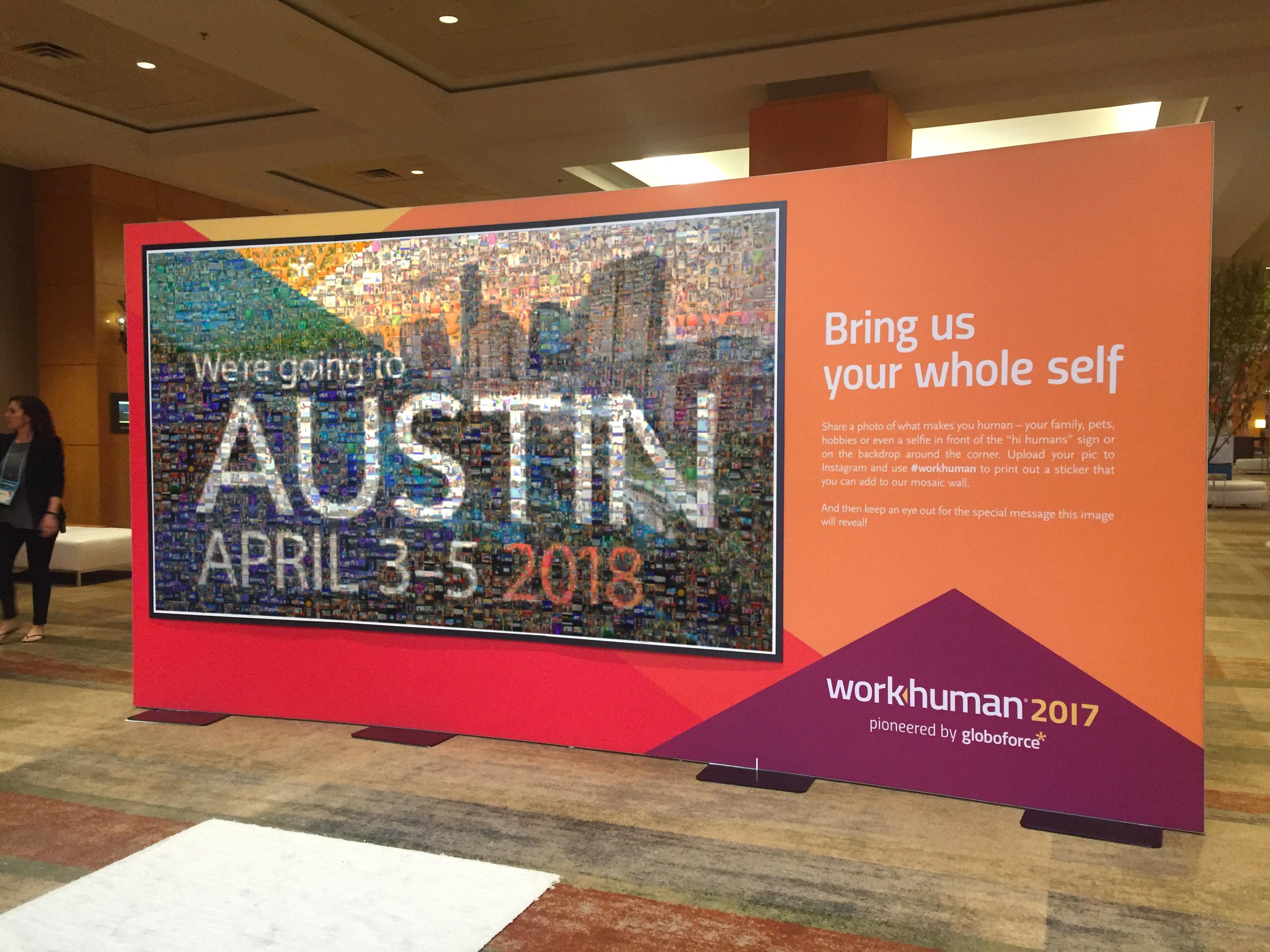 WorkHuman 2017 Live Print Mosaic Event