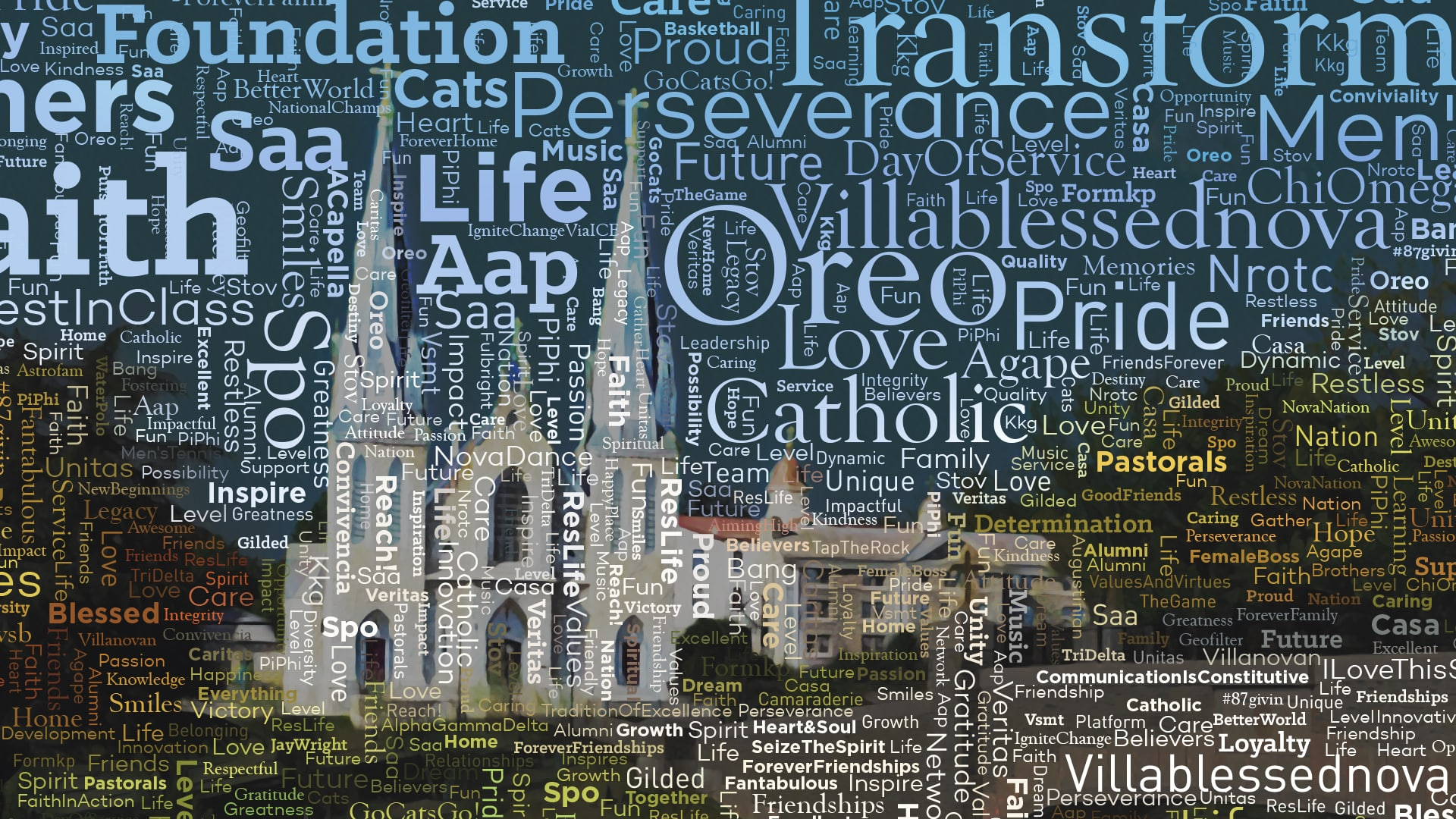 Villanova Word Mosaic