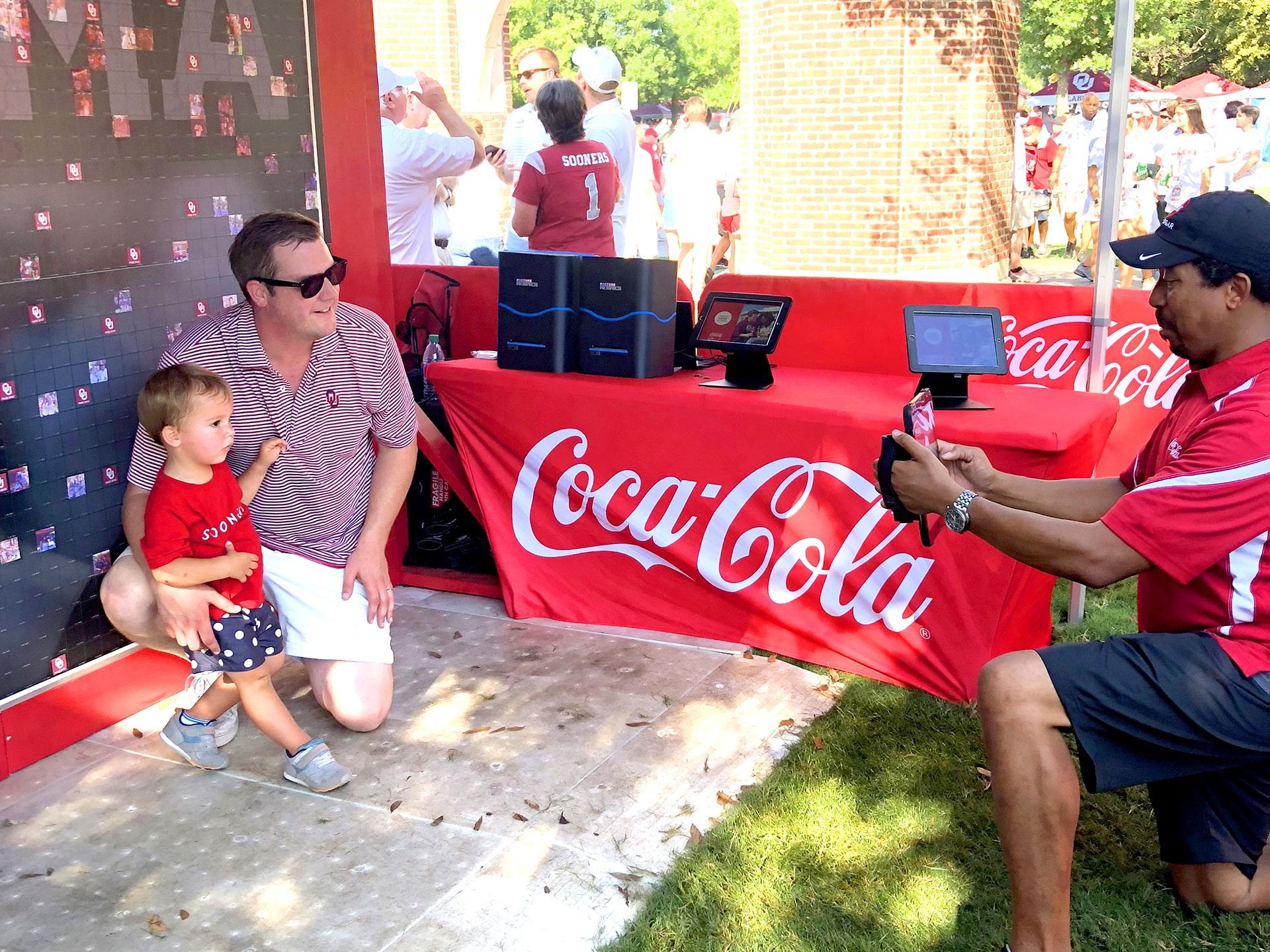 Live Print Mosaic: Coca-Cola OU Football