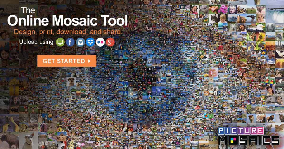 Picture Mosaics - Free Online Photo Mosaic Tool