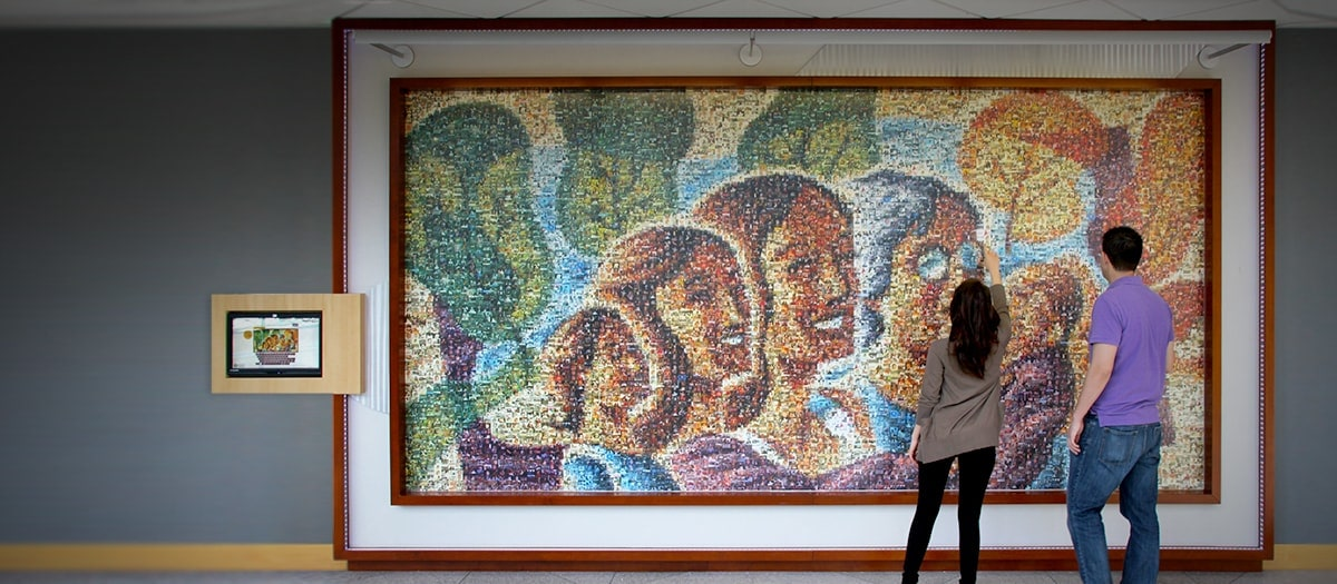 photo mosaic murals