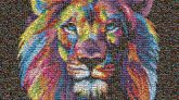BizBash events trade shows photo-by-photo murals lions artistic faces animals