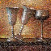 goblets glasses drinks chalices wine beverages cups arrangement set scene props