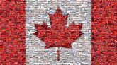 Canadian Canada flag nation country patriotism maple leaf red white simple