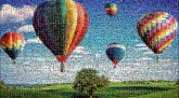 hot air balloons landscape nature