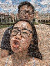 selfie couple fun glasses portrait people faces person building outdoor