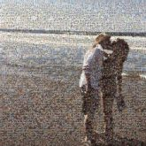 kissing couples people portraits beaches vacations travel young love man woman ocean distant distance