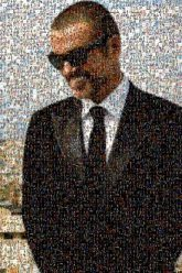 george michael singers musicians celebrity people faces portraits sunglasses formal man suit