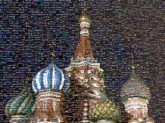 architecture Russia Moscow cathedral building churches domes nightscapes city night sky