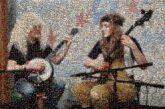 banjos instruments musical musicians people faces portraits performers performance arts artists live