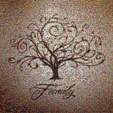 family trees icons symbols love family text script branches together unity growth