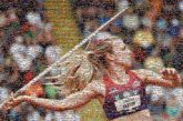 javelin throwing sports compete competitions athletes athletics woman profile games person faces portraits