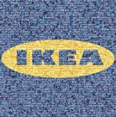 ikea furniture homes housing houses stores company furnishing logos graphics shapes simple bold text words letters