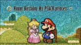 mario peach characters video games illustrations graphics love couples birthdays