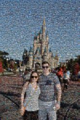 disney vacations people faces portraits couples love man woman distant distance theme parks castles