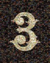 three 3 numbers icons graphics logos anniversary symbols