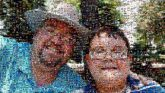 people faces portraits selfies father son parents children boy glasses outdoors vacation family love