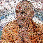 monks Hindu religious religion spirituality leadership roles person faces smiling man