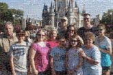 disney world castles architecture theme parks vacations travel family groups portraits people faces distant distance sunglasses