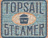 Topsail Steamer brands icons symbols logos graphics text words letters borders shapes