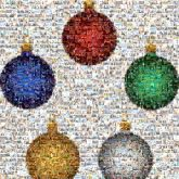 ornaments merry christmas holidays winter seasonal shapes