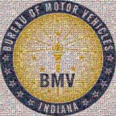 bmv motor vehicles indiana company corporate business employees text fonts letters logos graphics emblems crests